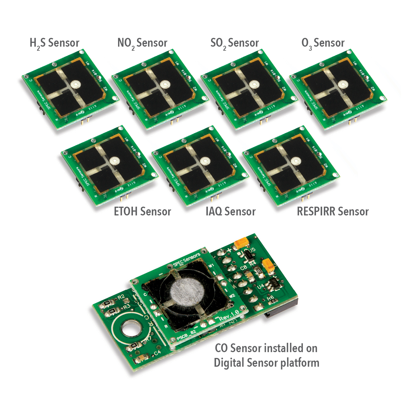 Spec Sensors has released on open-source digital gas sensor developer kit that is said to allow OEMs to quickly integrate gas sensing into their application(s). The company's SPEC Sensors<FONT SIZE=1><SUP>TM</SUP></FONT> are small (low profile) high-performance electrochemical gas sensors available at mass market volumes and prices. Photo courtesy of Spec Sensors.